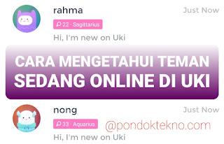 Cara Mengetahui Teman Sedang Online di Uki