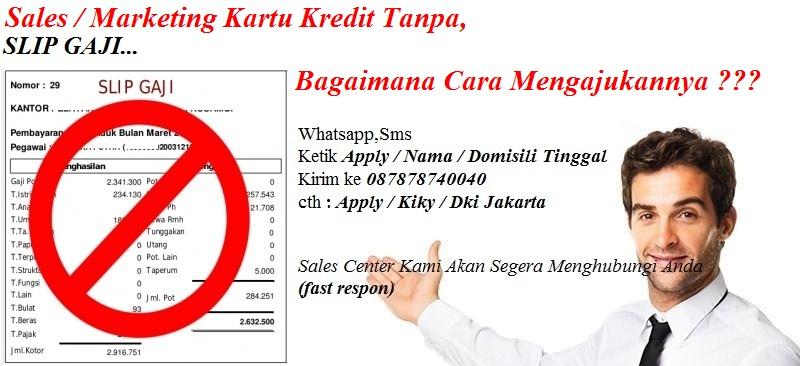 Sales Kartu Kredit Bca Tanpa Slip Gaji Gallerycredit