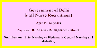 Staff Nurse Jobs in Delhi GNM or B.Sc Nursing