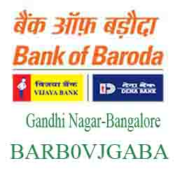 Vijaya Baroda Bank Gandhi Nagar‐Bangalore Branch New IFSC, MICR