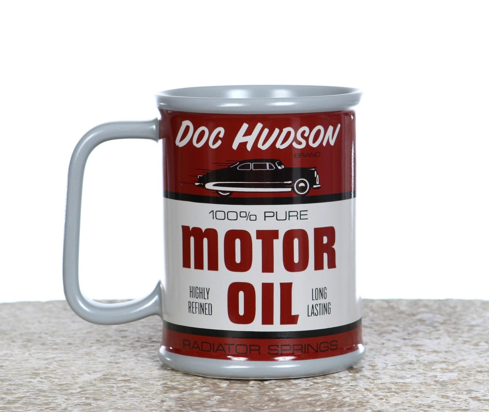 Cars 3 Disney Store Doc Hudson Motor Oil Mug