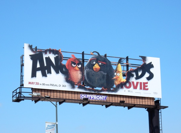 Angry Birds Movie special cutout billboard