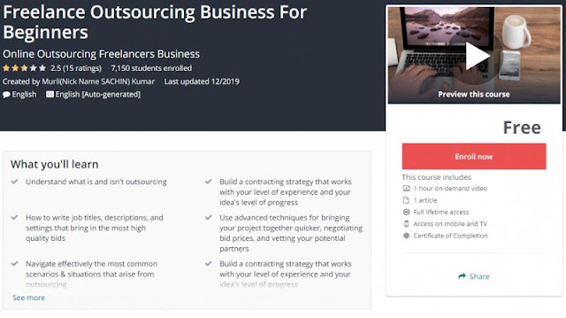 [100% Free] Freelance Outsourcing Business For Beginners
