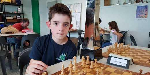 Clément Candelot, 1956 elo à 12 ans, sera-t-il la future star du jeu d'échecs français ? - Photo © Sud Ouest
