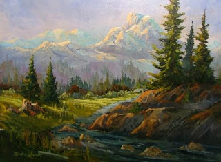 oil landscape painting by Aletha Deuel