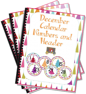 Want your FREE December Calendar Numbers and Header?
