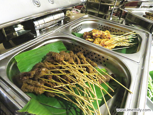 satay - beef and chicken