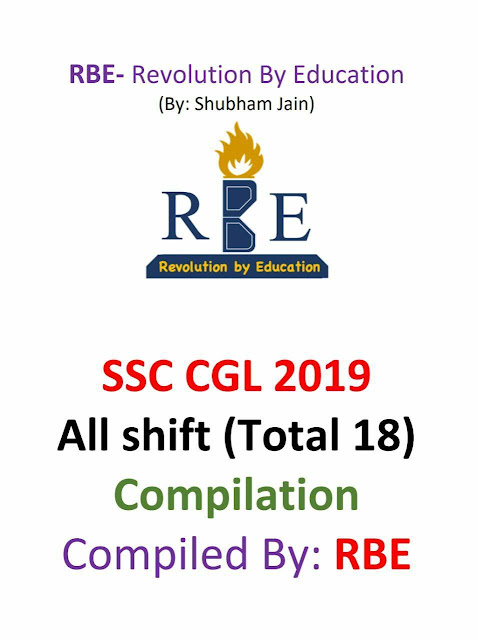 RBE SSC CGL 2019 : For SSC Exam PDF Book