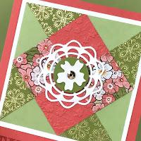 VIDEO: Stampin' Up! Ornate Garden Quilt Card Tutorial ~ www.juliedavison.com