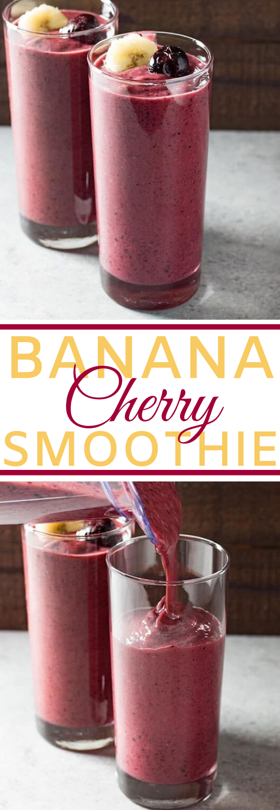 Banana Cherry Smoothie #drinks #healthy #smoothies #breakfast #juice