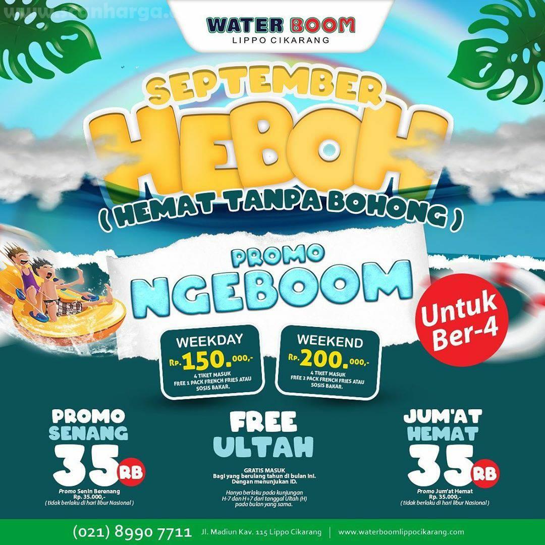 Promo Waterboom HEBOH Terbaru September 2020