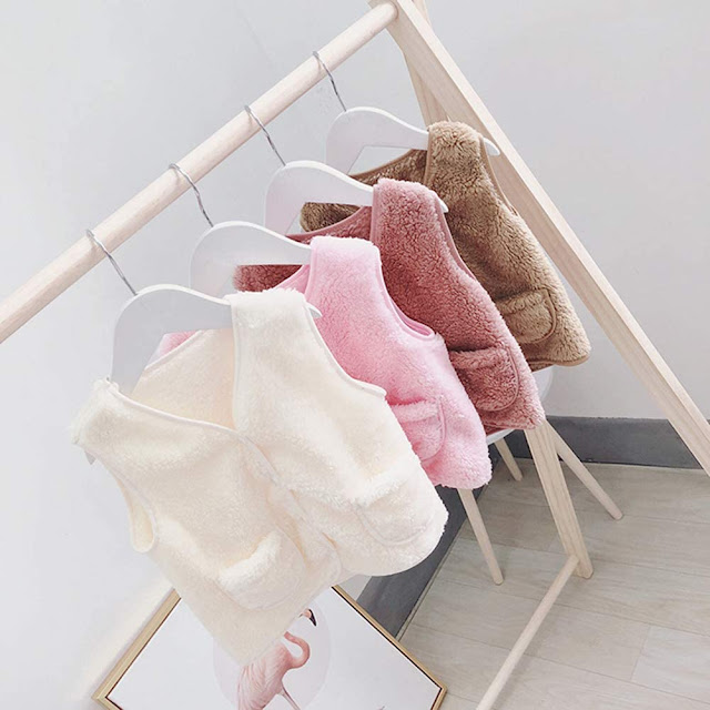 Faux Fur Vest For Kids Girls