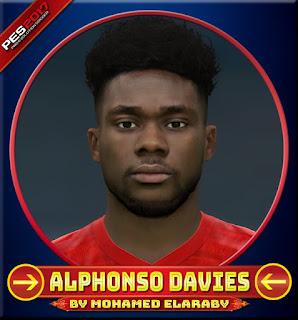 PES 2017 Faces Alphonso Davies by M.Elaraby