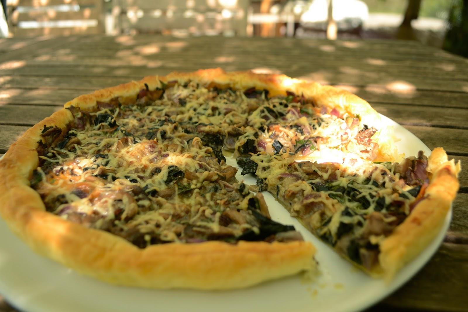 Les petits plats dans les grands : Tarte fine aux champignons