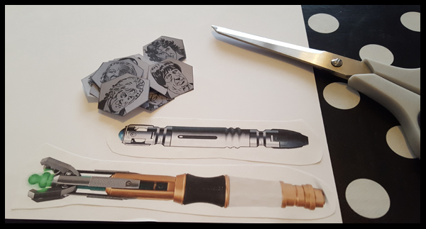 creating sonic screwdriver hands for Dr Who clock