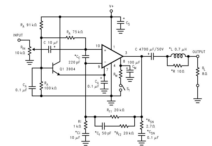 lm380 datasheet audio power amplifier