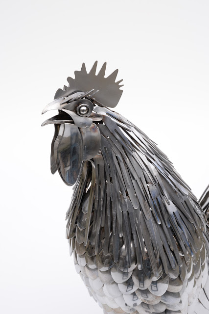 Ed Hill Metal Art - cockerel