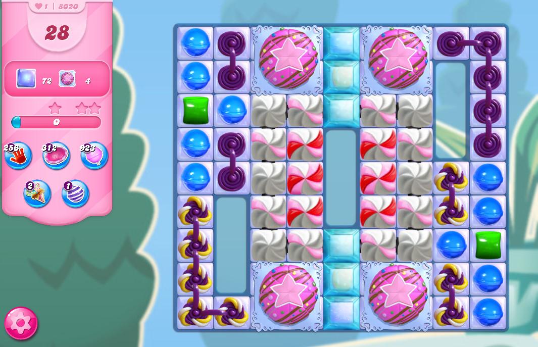 Candy Crush Saga level 8020
