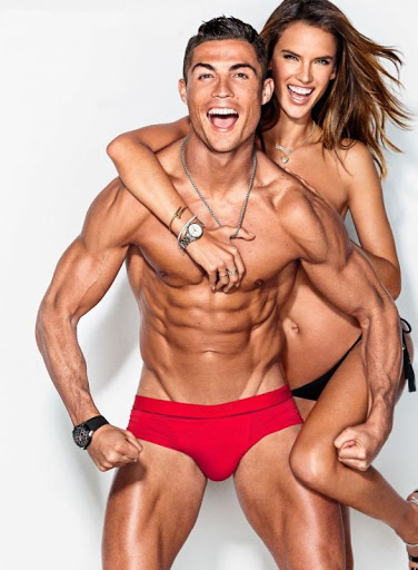 alessandra ambrosio and christiano ronaldo hot poses for gq magazine model photo shoot