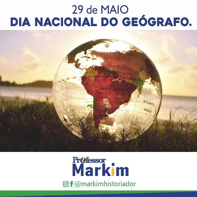 PROFESSOR MARKIM: PARABENIZA TODOS OS GEÓGRAFOS DO BRASIL.