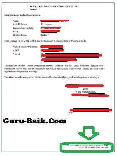 gambar contoh surat mutasi emis 4.0