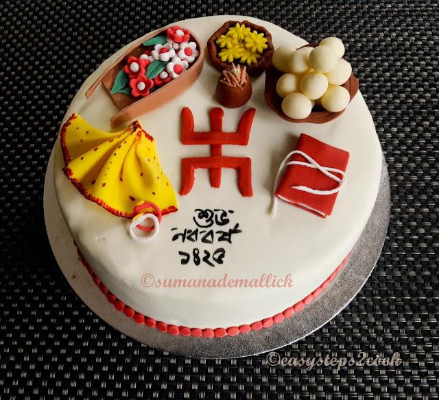 poila boishakh, nabonorsho, cake art, fondant
