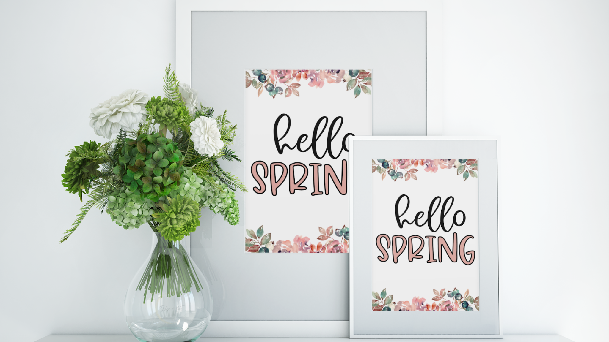 "Watercolor ""Hello Spring"" Free Printable Wall Art — Eris + Dot Blog"