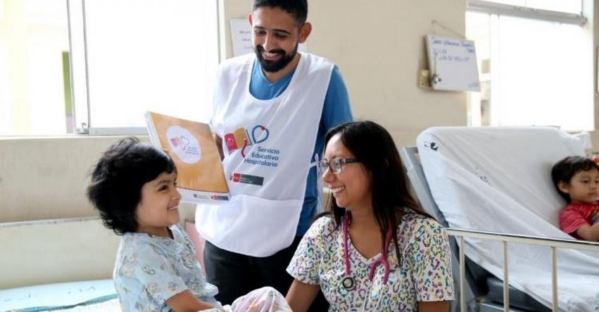 Servicio educativo atenderá este año a 4,500 escolares hospitalizados, informó el Ministerio de Educación