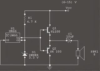Circuit of musik | melody generator