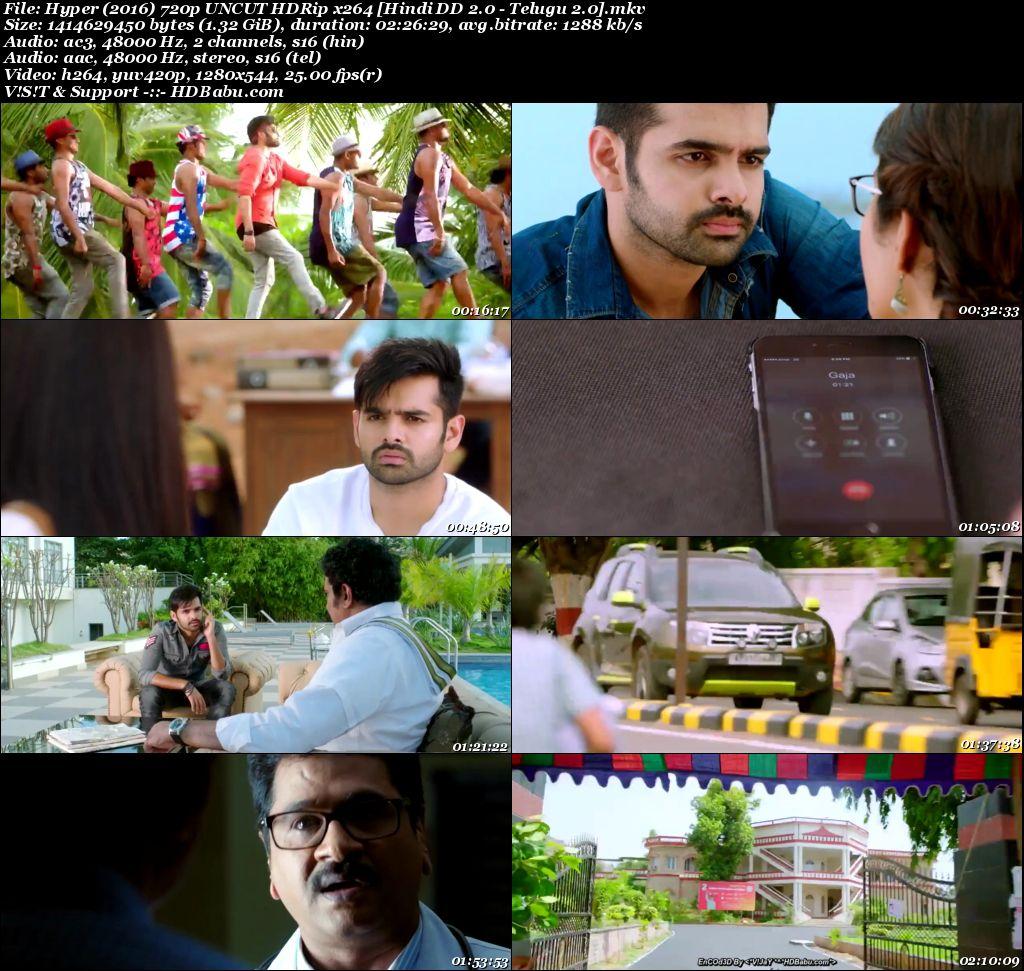 Hyper (2016) 720p UNCUT HDRip x264 [Hindi DD 2.0 - Telugu 2.0] 1.35 GB Screenshot