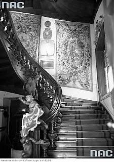 Klatka schodowa w pałacu Pusłowskich - 1936