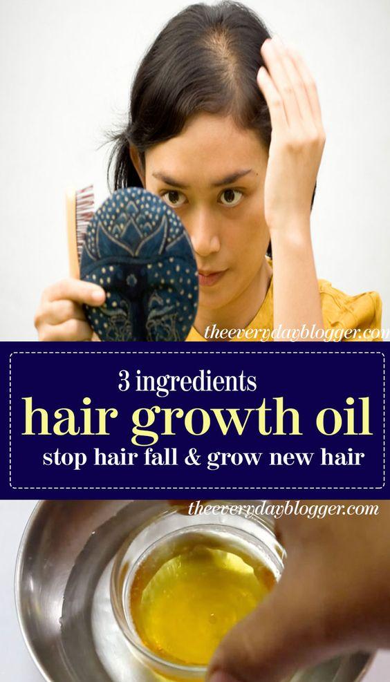 3 Ingerdients Hair Growth Oil – Stop Hair Fall And Grow New Hair