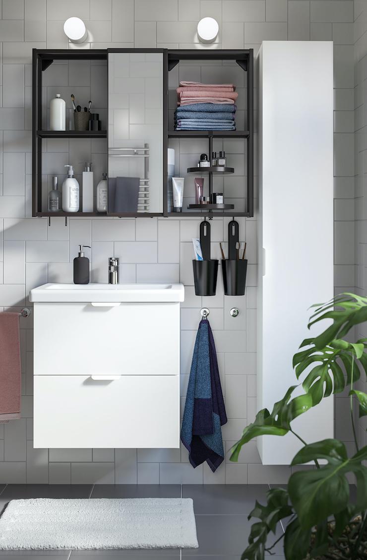 Novedades catálogo IKEA 2021 en baños: nuevo mueble de baño IKEA 2021.