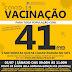 NESTE SÁBADO, 03/07, SS DA AMOREIRA VACINA POPULAÇÃO COM 41 ANOS COMPLETO