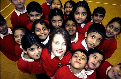 Typical racial make-up of an inner city British school