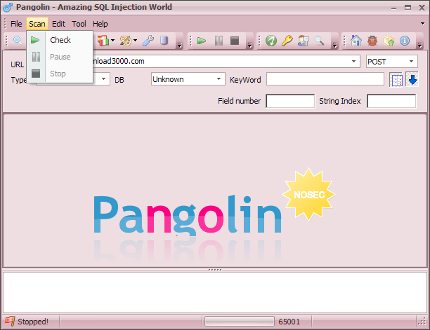 Pangolin 323 - Automatic Sql Injection Penetration -3530