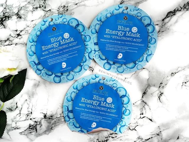 SkınLıte Blue Energy Mask - Hiyarülonik Asit Mavi Enerji Maske