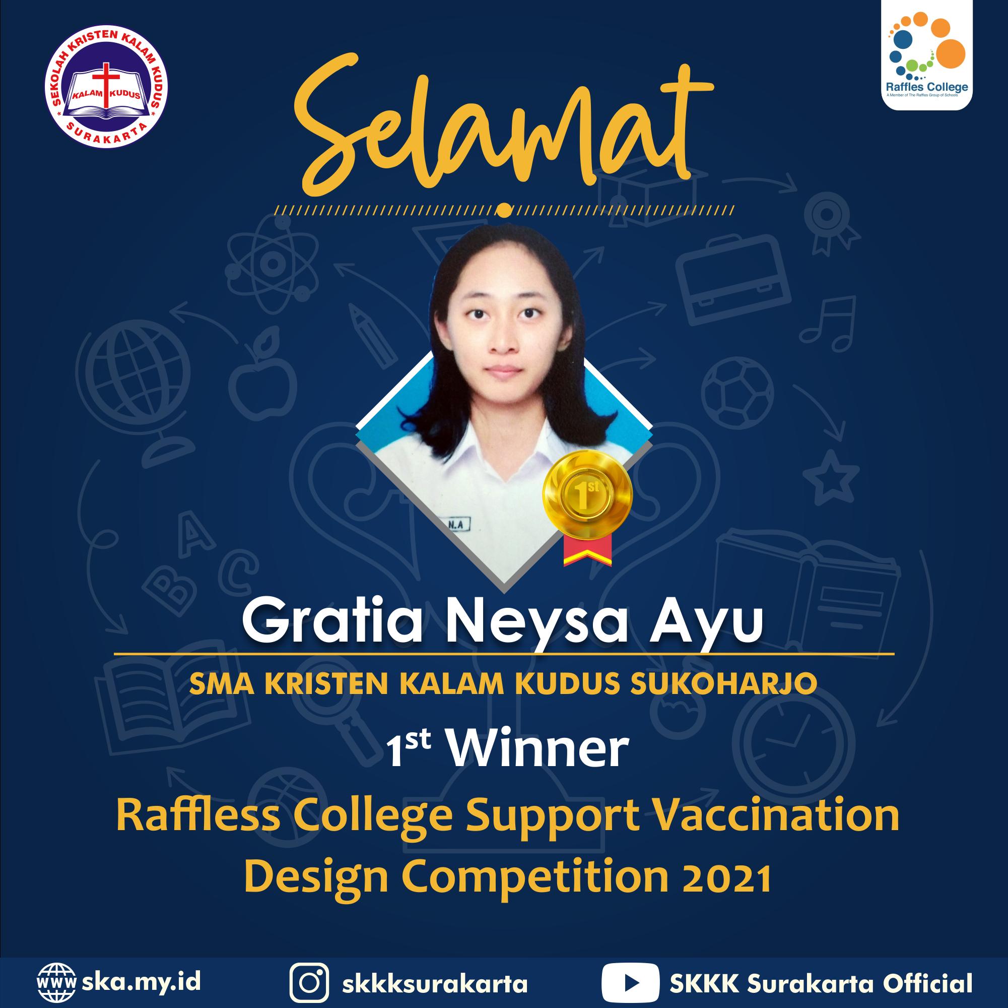 Gratia Neysa Ayu Raih Peringkat Pertama dalam Kompetisi Desain Nasional