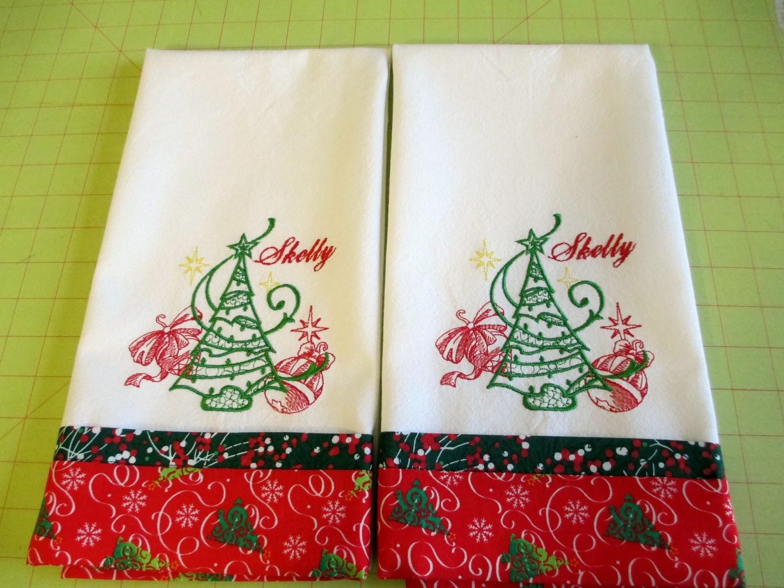 I Have A Notion: Karin's Trimmed Tea Towel Tutorial