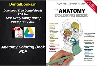 Anatomy Coloring Book PDF Dental Books Free Download