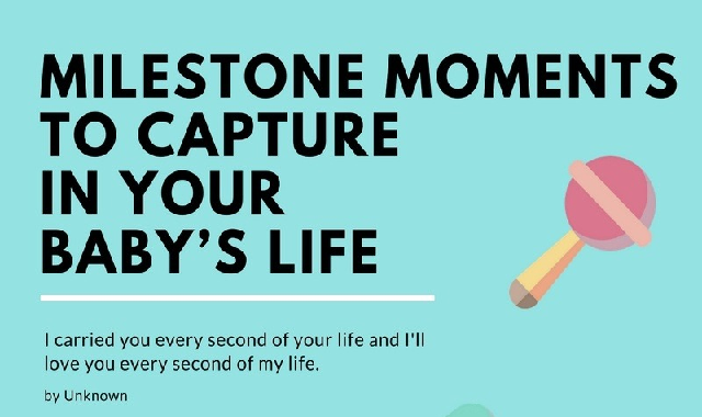 Milestone Moments To Capture In Your Baby's Life #infographic
