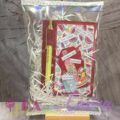 cadeau verpakking van een lamineer folder
