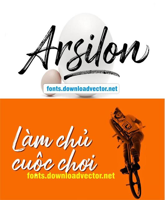 Download Fonts Arsilon việt hóa tiếng việt