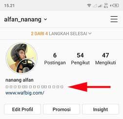 Cara Membuat Tulisan Kotak di Bio Instagram Tanpa Aplikasi