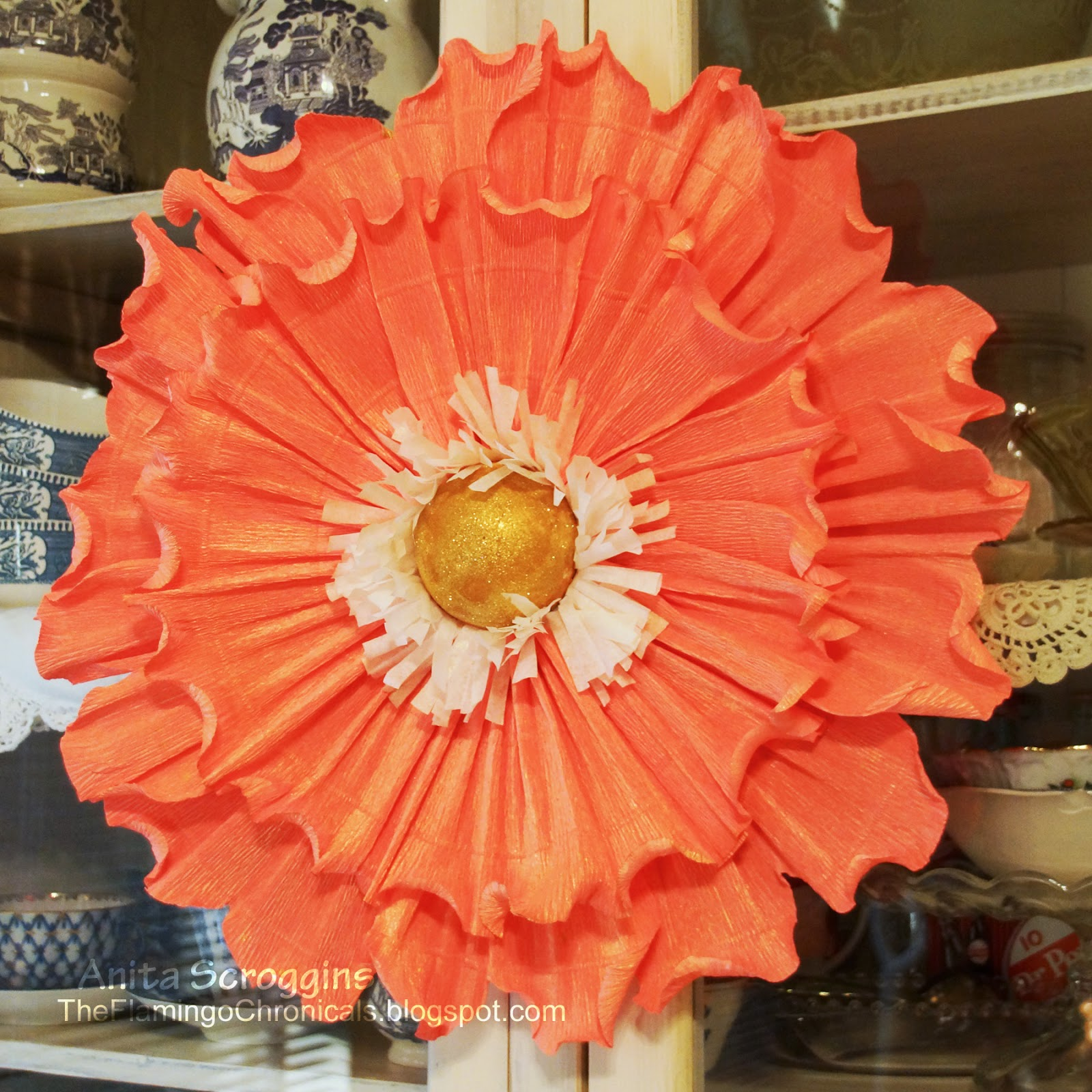 Imgenes De How To Make Big Flowers With Crepe Paper