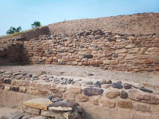 Stepped stone citadel wall at Dholavira