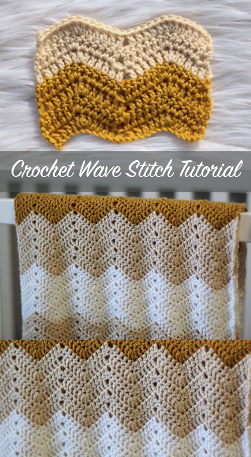 Crochet Wave Stitch - Tutorial