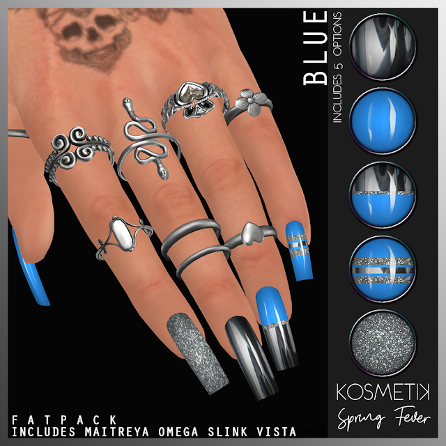 .kosmetik Spring Fever Blue Nails