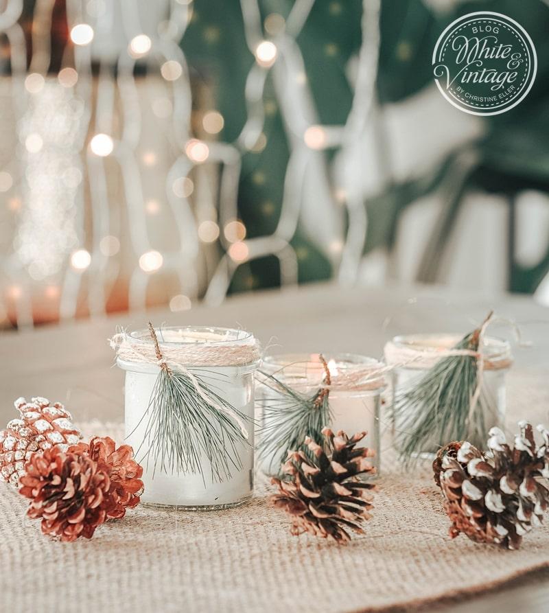 Nachhaltige Deko - aus Kerzenresten winterliche Duftkerzen herstellen