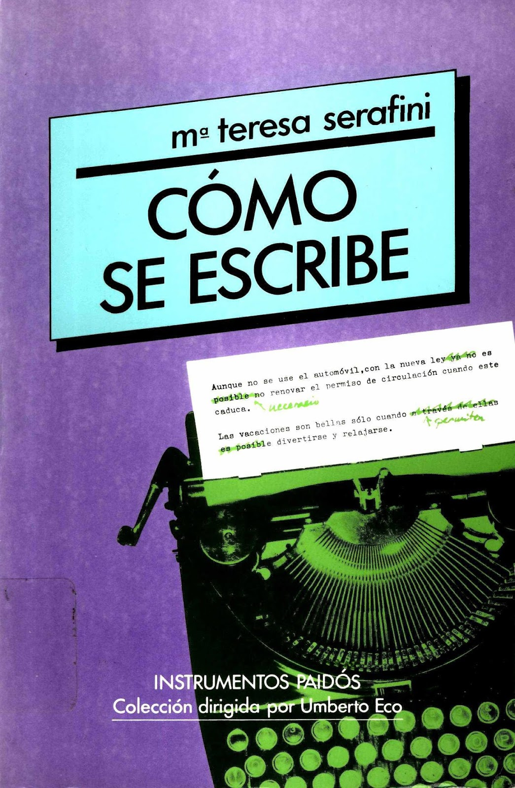 Cómo se escribe – María Teresa Serafini